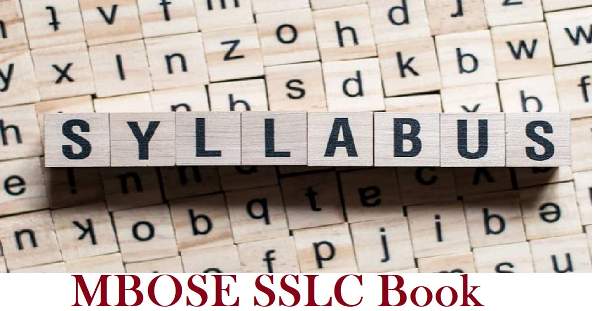 MBOSE SSLC Book