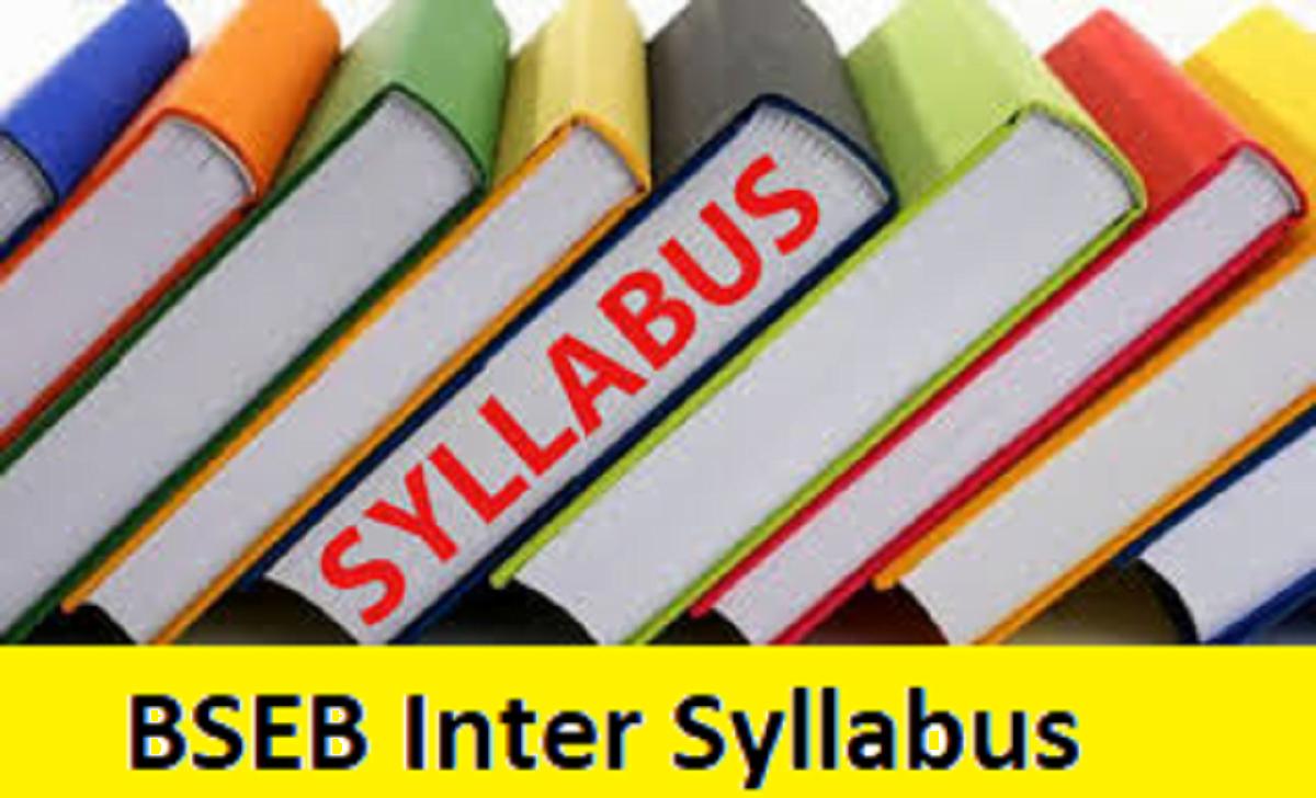 BSEB Intermediate Syllabus 2021 Bihar 12th Books 2021 Patna Board 1st/2nd Inter Textbook 2021